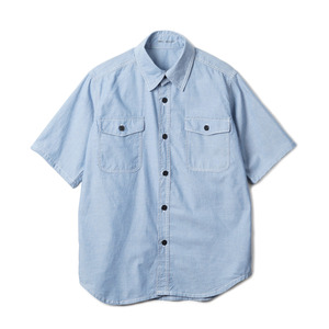 "YMCL KY US Type NAVY Chambray Shirts S/S ""Blue"""