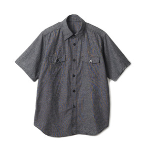 "YMCL KY US Type NAVY Chambray Shirts S/S ""Black"""