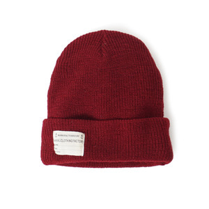 "YMCL KY US Type NAVY Wool Watch Cap ""Burgundy"""