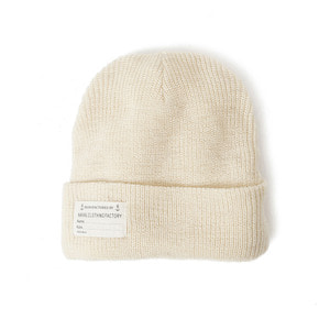 "YMCL KY US Type NAVY Wool Watch Cap ""Natural"""