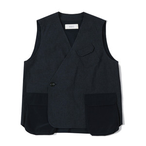 "SHIRTER Air Pocket Double Vest ""Navy"""