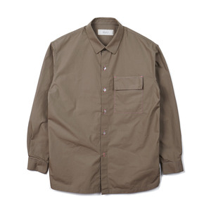 "SHIRTER Fishing Line Poplin Shirt ""Beige"""