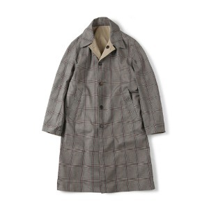 "SHIRTER Reversible Check Coat ""Glen Check"""
