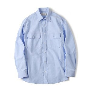 "SHIRTER Flap Pocket Oxford Shirt ""Blue"""