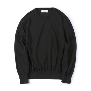 "SHIRTER Sturdy Linen Knit ""Black"""