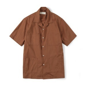 "SHIRTER 4P Open Shirt ""Red Brown"""