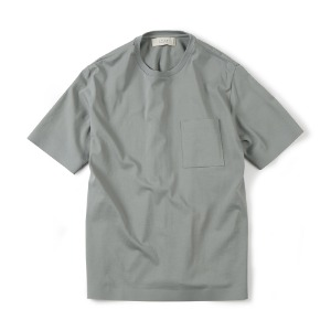 "SHIRTER Seamless Hem T-Shirt ""Light Grey"""