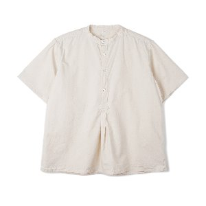 "YMCL KY Bulgarian 50's Grandpa Short Sleeve Shirt ""Off White"""