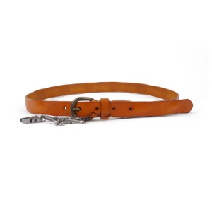 "ATEASE Love Wash Leather Belt ""Camel"""