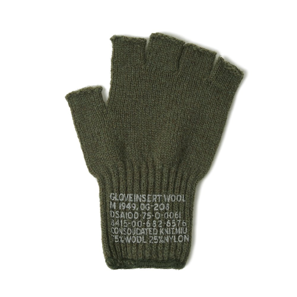 "YMCL KY US Military Wool Fingerless Glove ""Olive"""