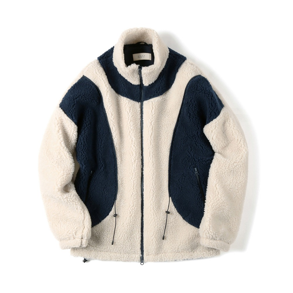 "SHIRTER String Fleece Jacket ""Ivory"""
