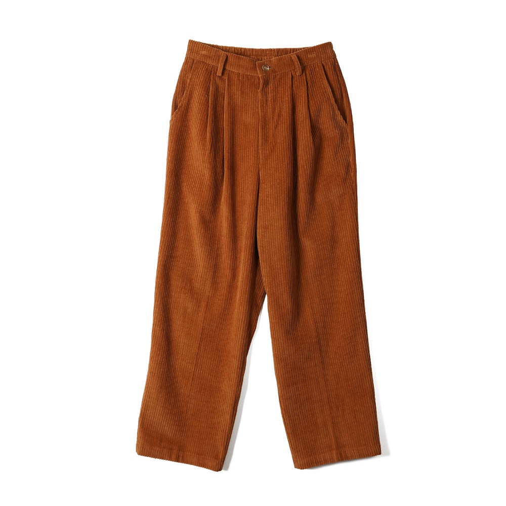 "CONICHIWA BONJOUR Wide Pants ""Red Brown"""