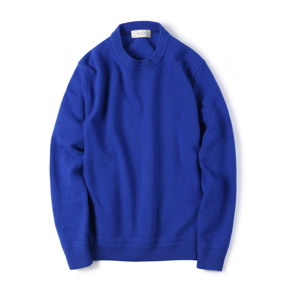 "SHIRTER Tasmania Wool Cachmere Knit ""Cobalt Blue"""