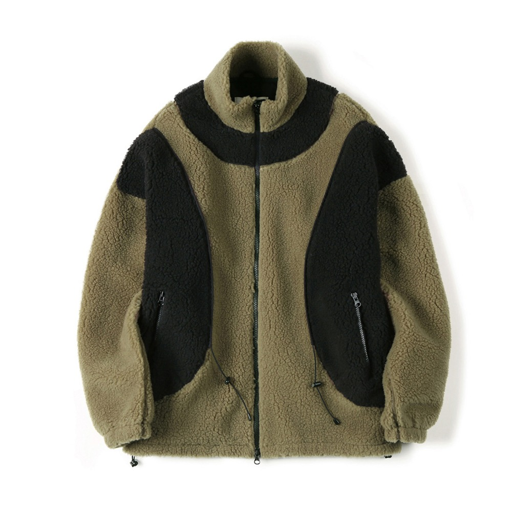 "SHIRTER String Fleece Jacket ""Khaki"""