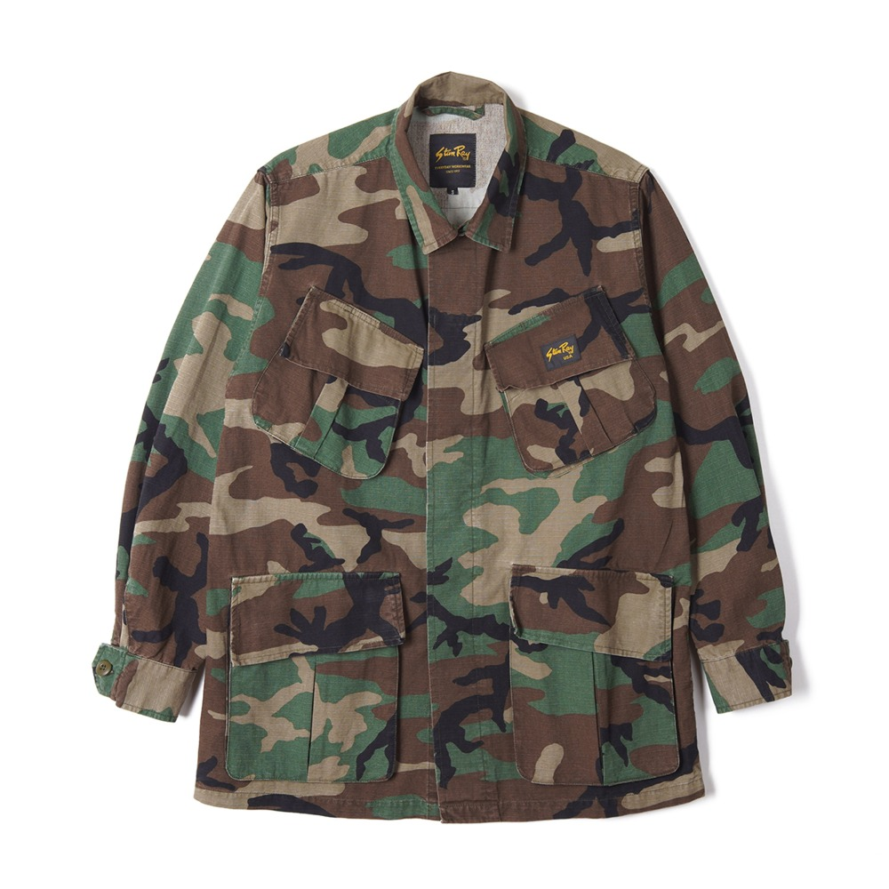 "STAN RAY Tropical Jacket ""Stonewashed Woodland Camo"""