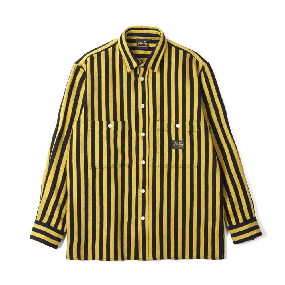 "STAN RAY Flannel Shirt ""Old Yellow Stripe"""