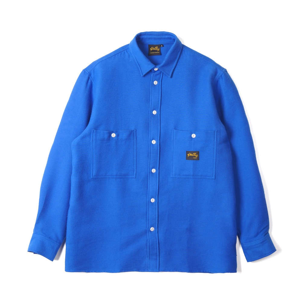 "STAN RAY Flannel Shirt ""Brilliant Blue"""