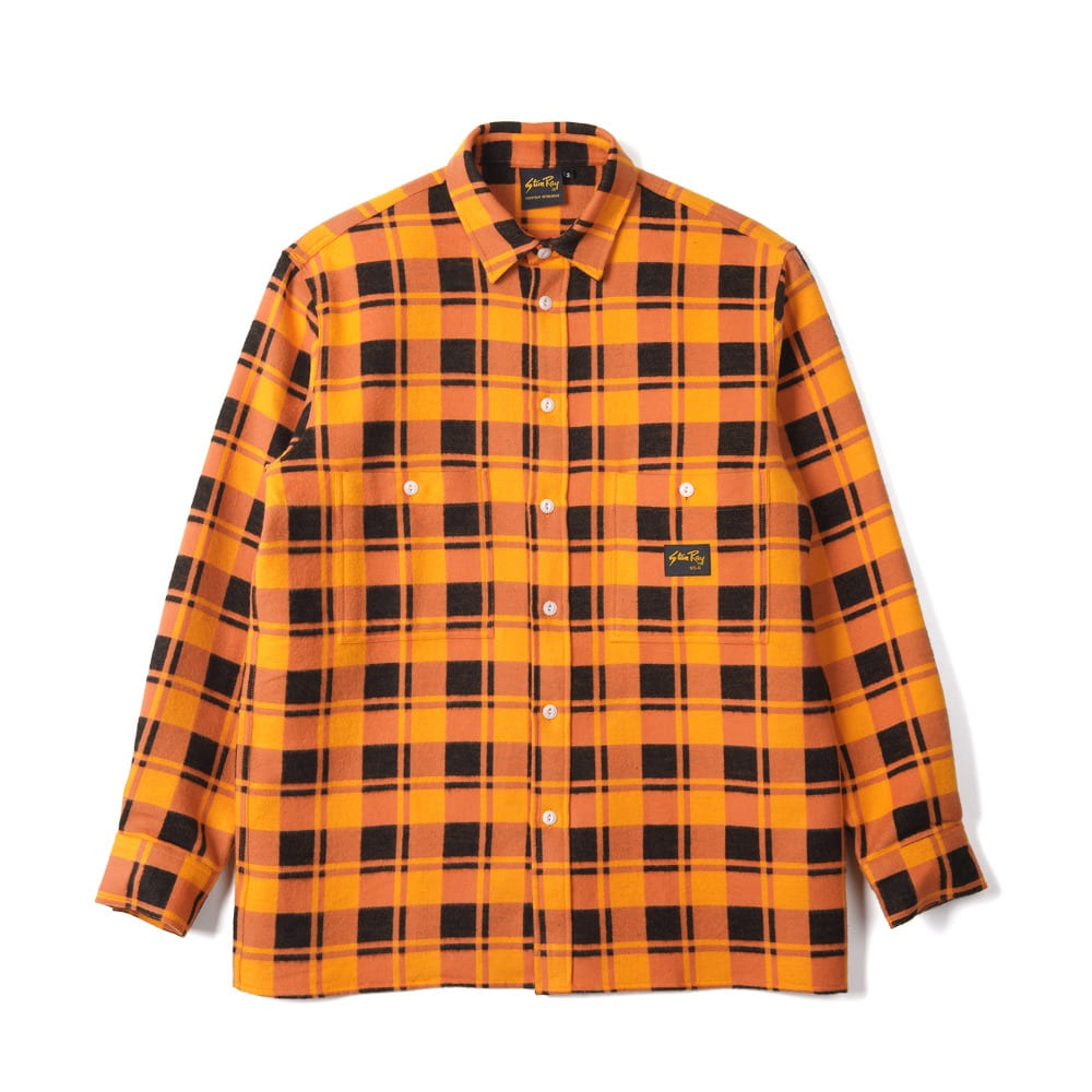 "STAN RAY Flannel Shirt ""Burnt Orange"""