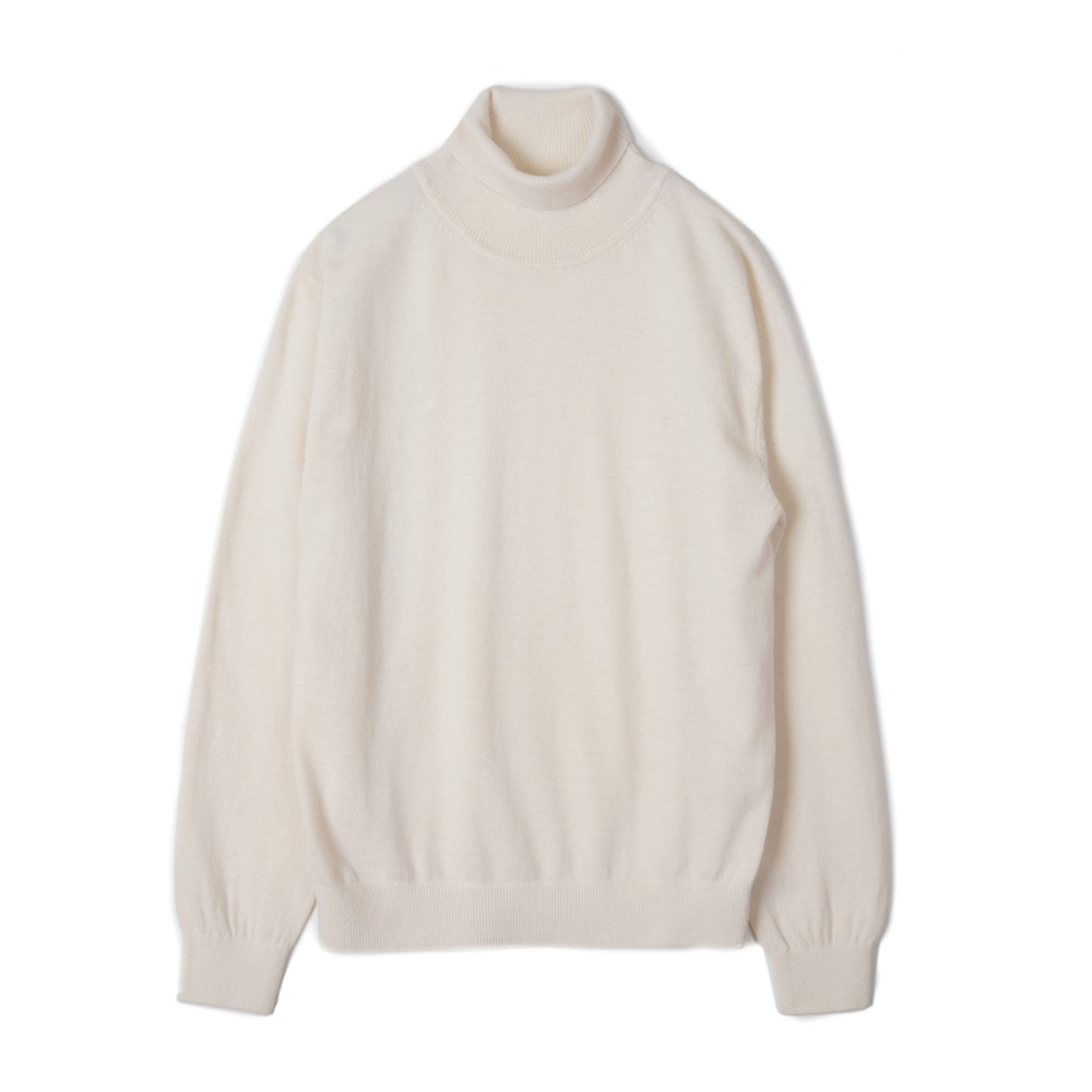 "TRICOTER Cashmere Blend Rollneck Sweater ""Ivory"""