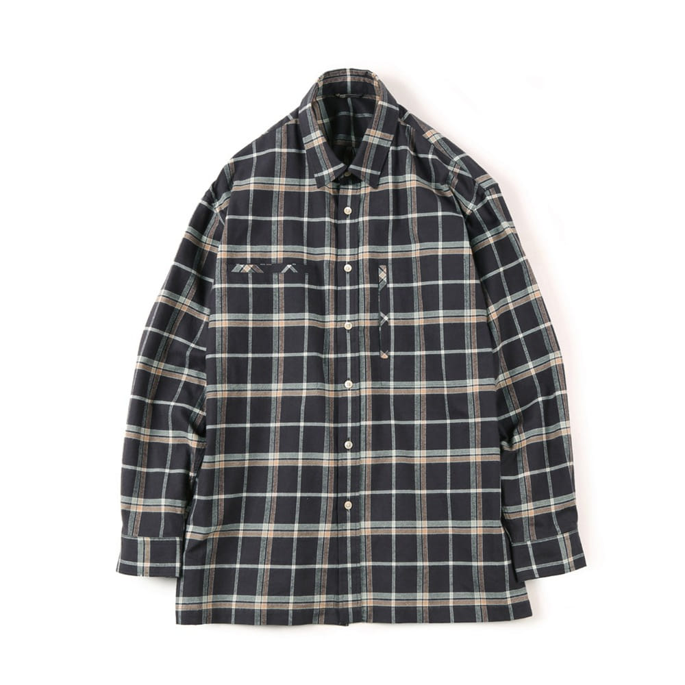 "SHIRTER Flannel Over Box  ""Check Brown"""