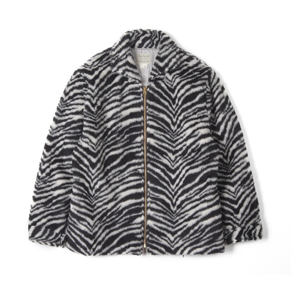 "STYLE EYES Zebra Kodiak Style Full Zip Up Jacket ""Black"""