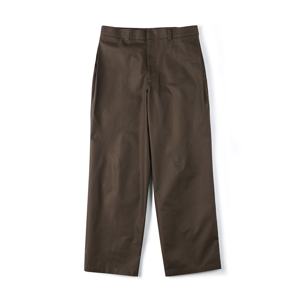 "SHIRTER Side Tuck Wide Pants ""Dark Brown"""