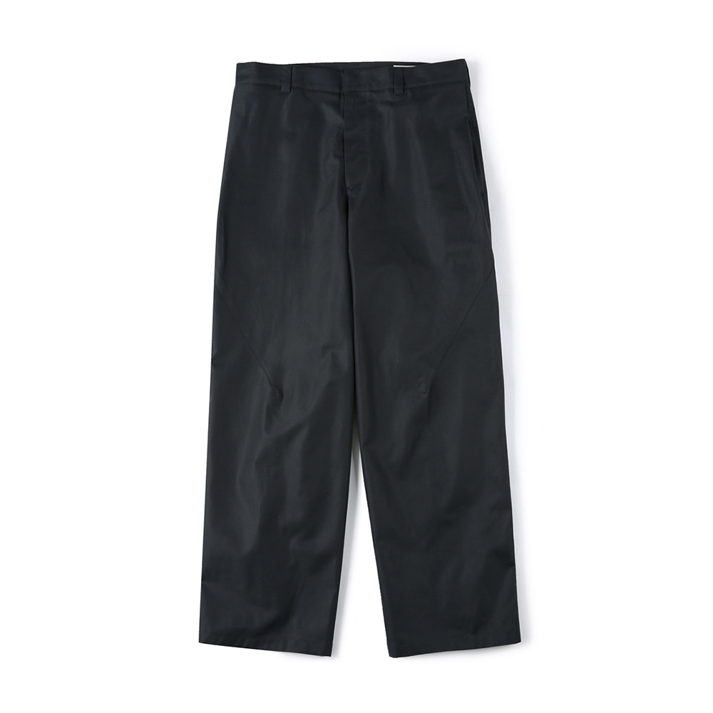 "SHIRTER Side Tuck Wide Pants ""Black"""