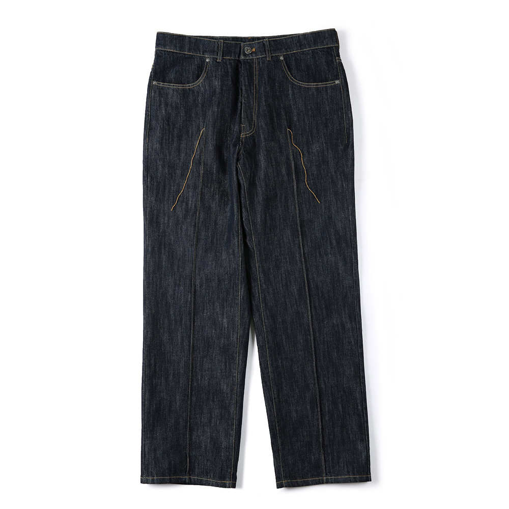 "SHIRTER Stitched Crease Denim Pants ""Indigo"""