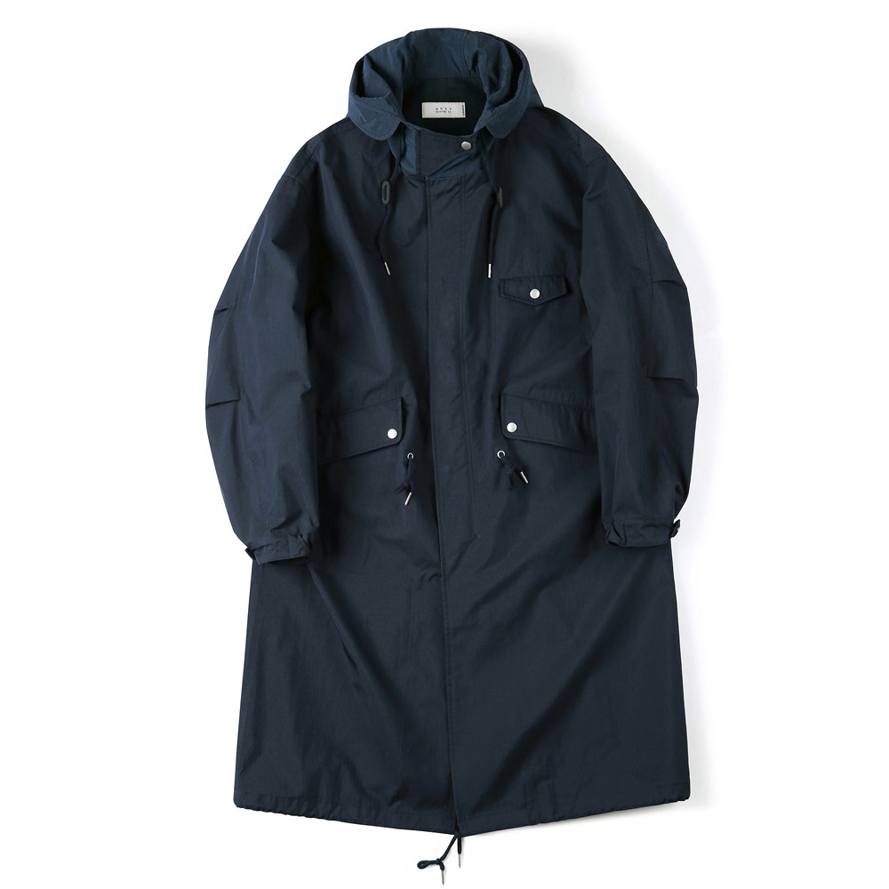 "SHIRTER Long Hooded Parka ""Navy"""