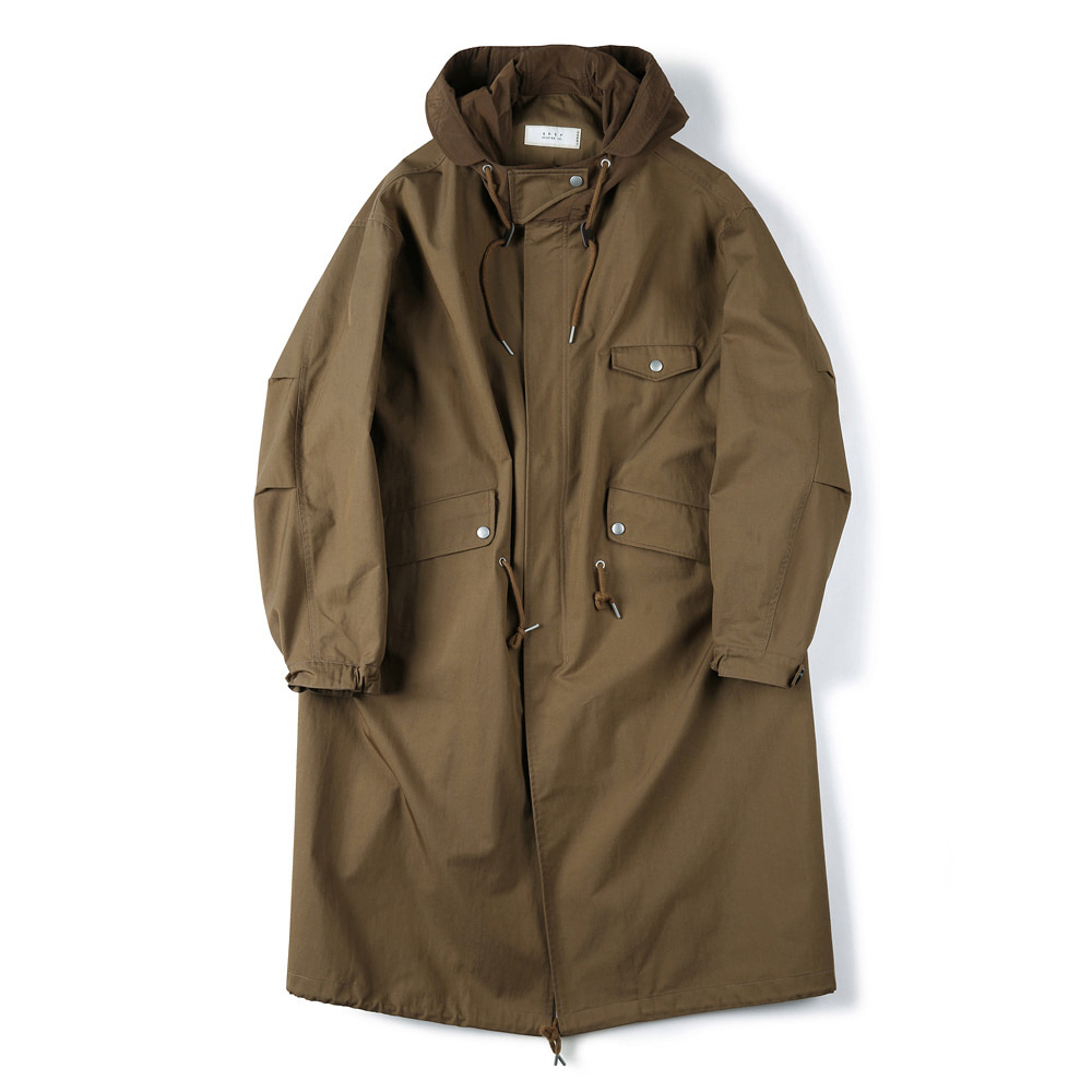 "SHIRTER Long Hooded Parka ""Brown"""
