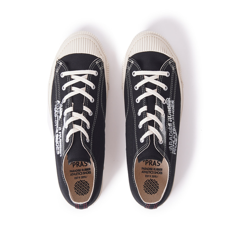 "PRAS Shellcap Low Stencil ""Kuro/Off-White"""