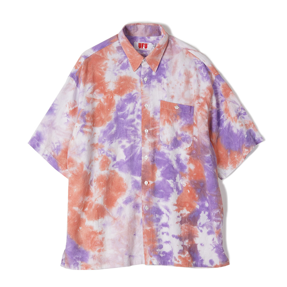 "USED FUTURE Tie Dye Shirt ""Orange"""