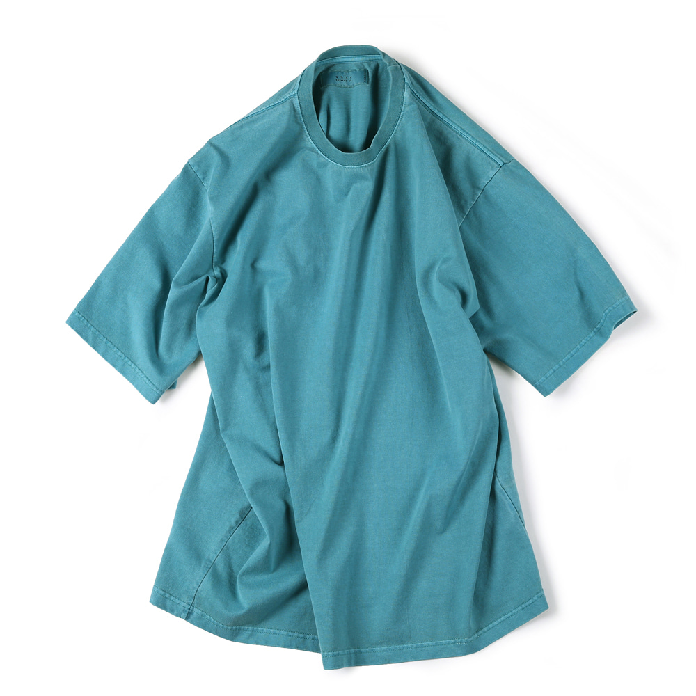 "SHIRTER Garment Dyed T-Shirt ""Blue Green"""