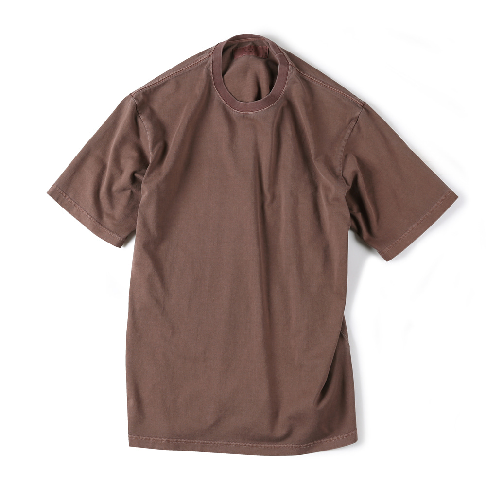 "SHIRTER Garment Dyed T-Shirt ""Brown"""