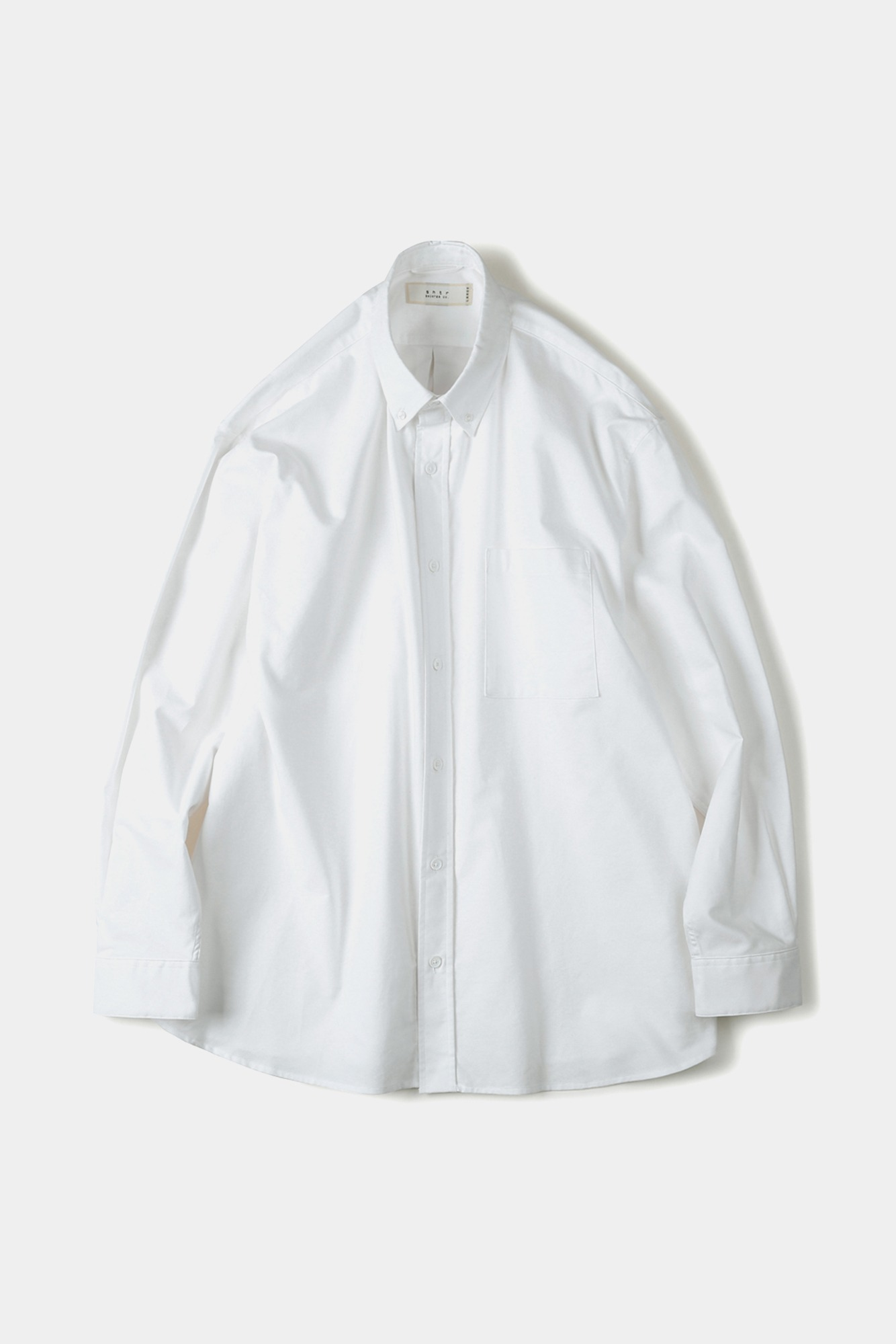 "SHIRTER Washed Oxford Big B.D Shirt ""White"""