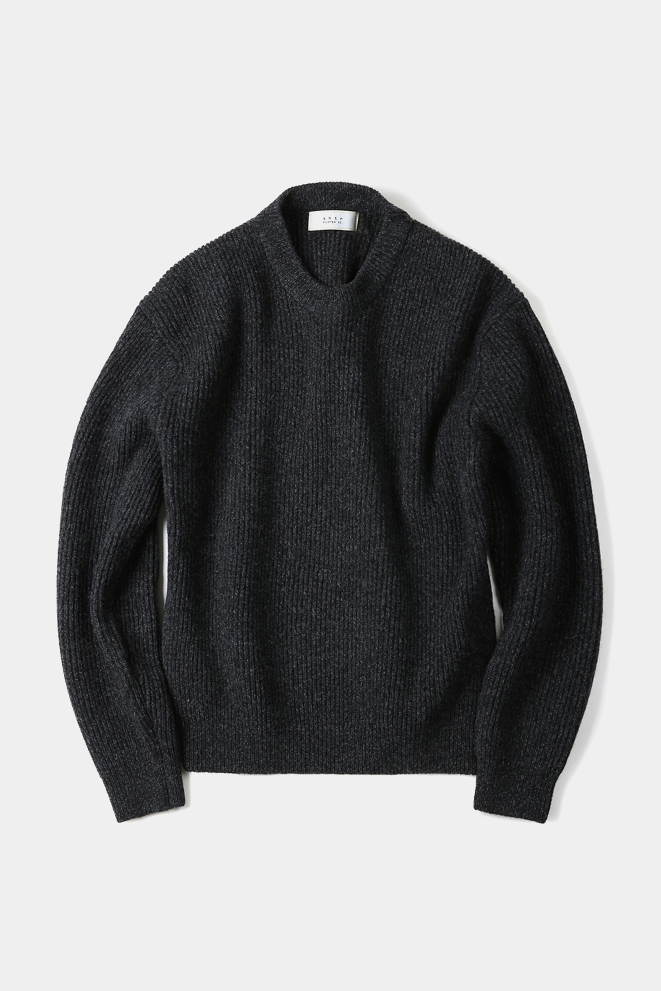 "SHIRTER Fine Merino Wool Wide Knit ""Black"""