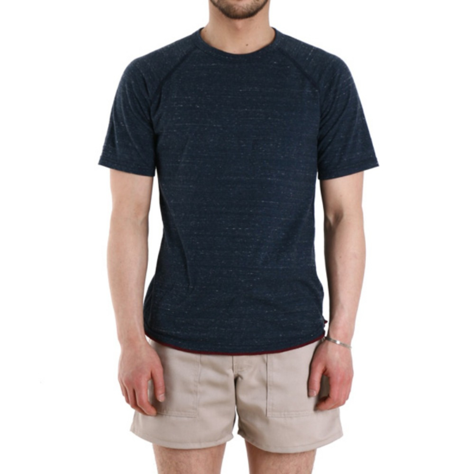 "REIGNING CHAMP Crewneck S/S Heather Jersey Raglan T-Shirt RC-1031 ""H.Navy"""