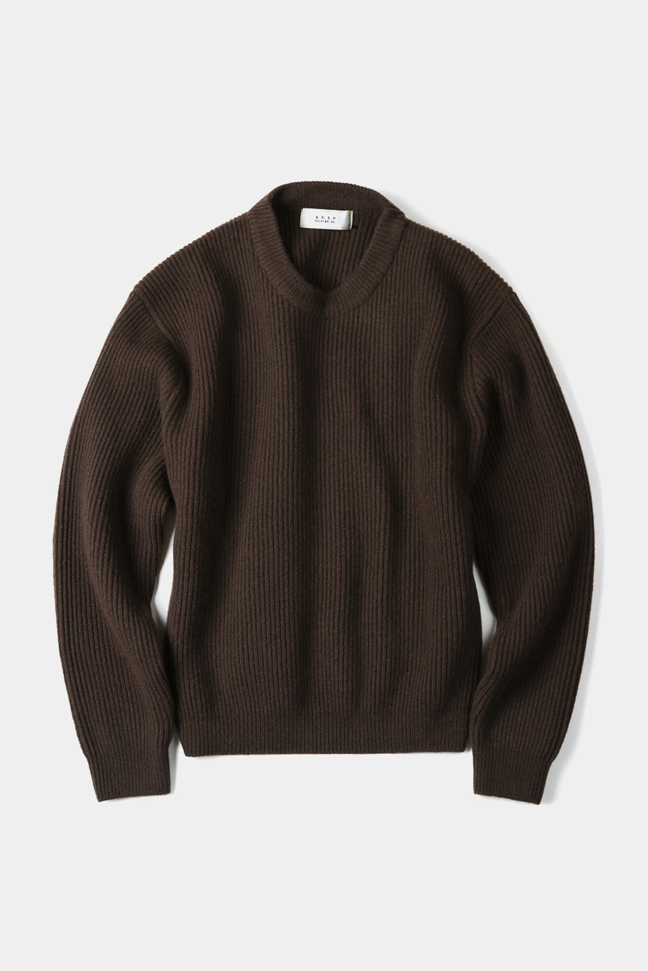 "SHIRTER Fine Merino Wool Wide Knit ""Dark Brown"""