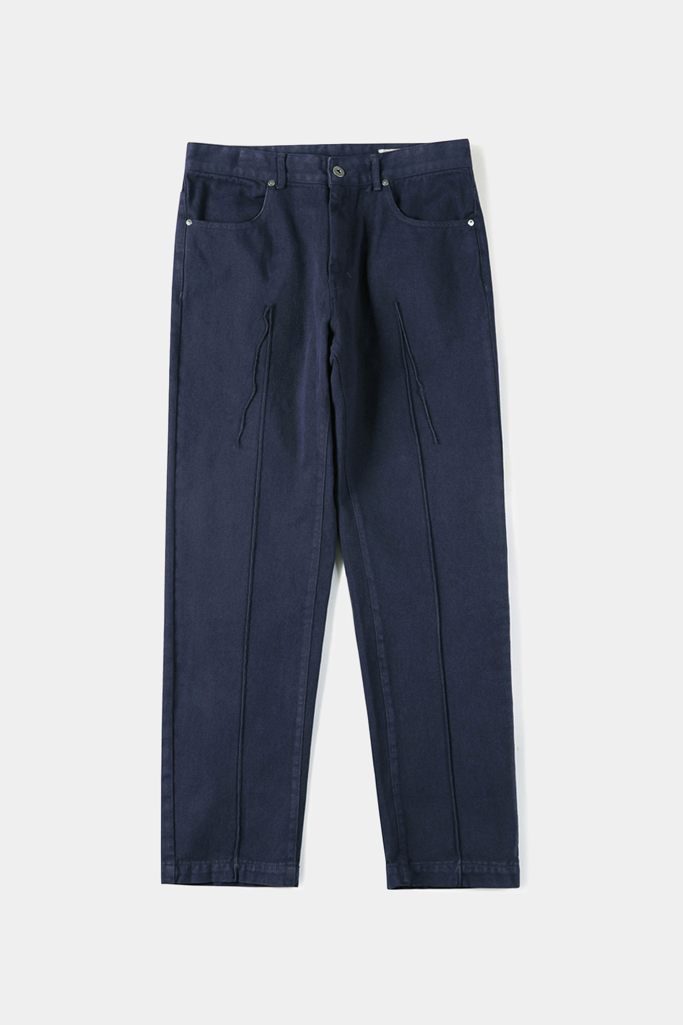 "SHIRTER Garment Dyed Tapered Original Denim Pants ""Puple Navy"""