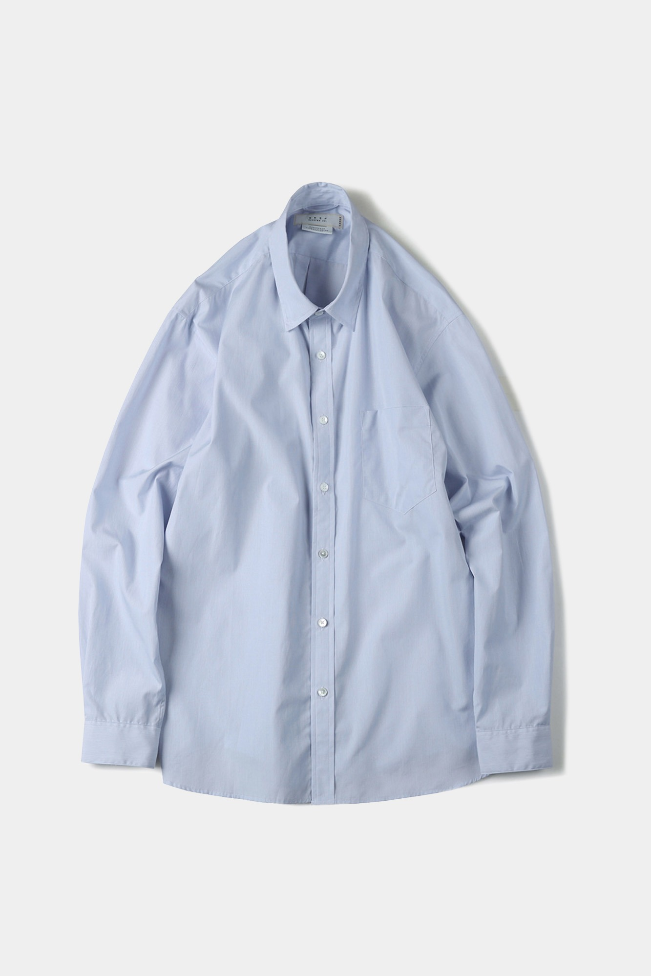 "SHIRTER High Density Blue Stripe Standard Shirt_original fabric ""White"""