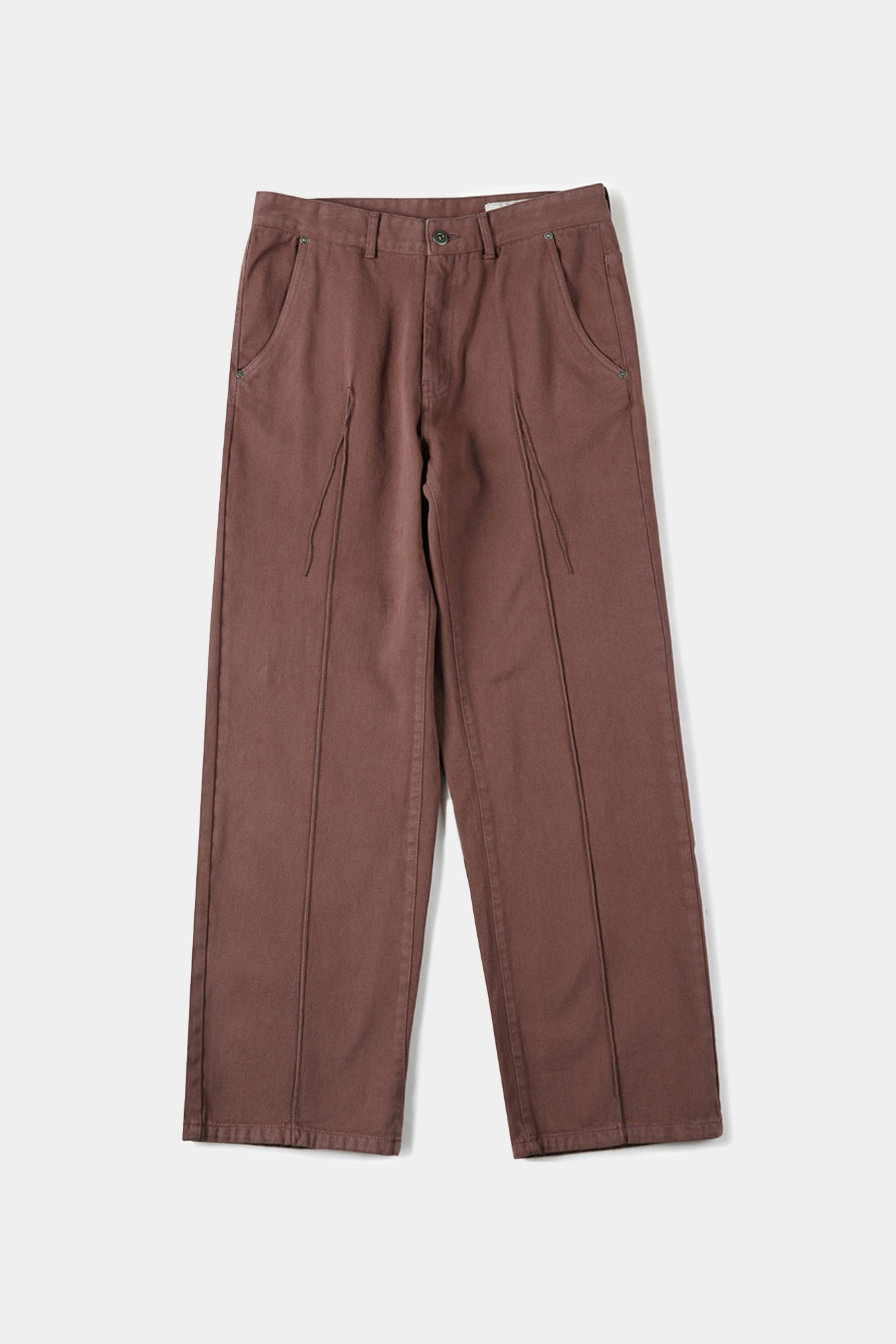 "SHIRTER Garment Dyed Wide Original Denim Pants ""Marsala"""