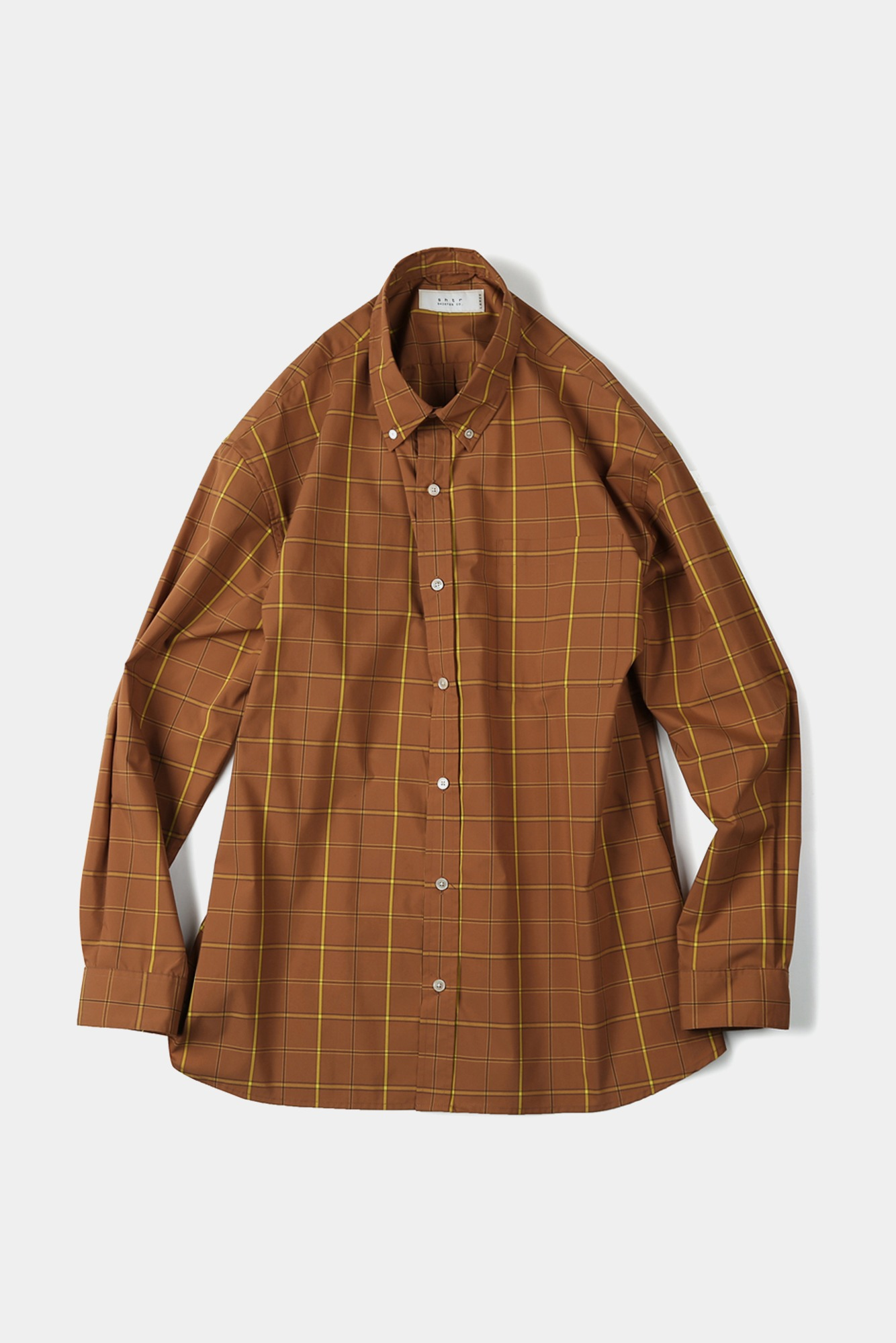 "SHIRTER Checked Typewriter Big B.D Shirt ""Orange"""