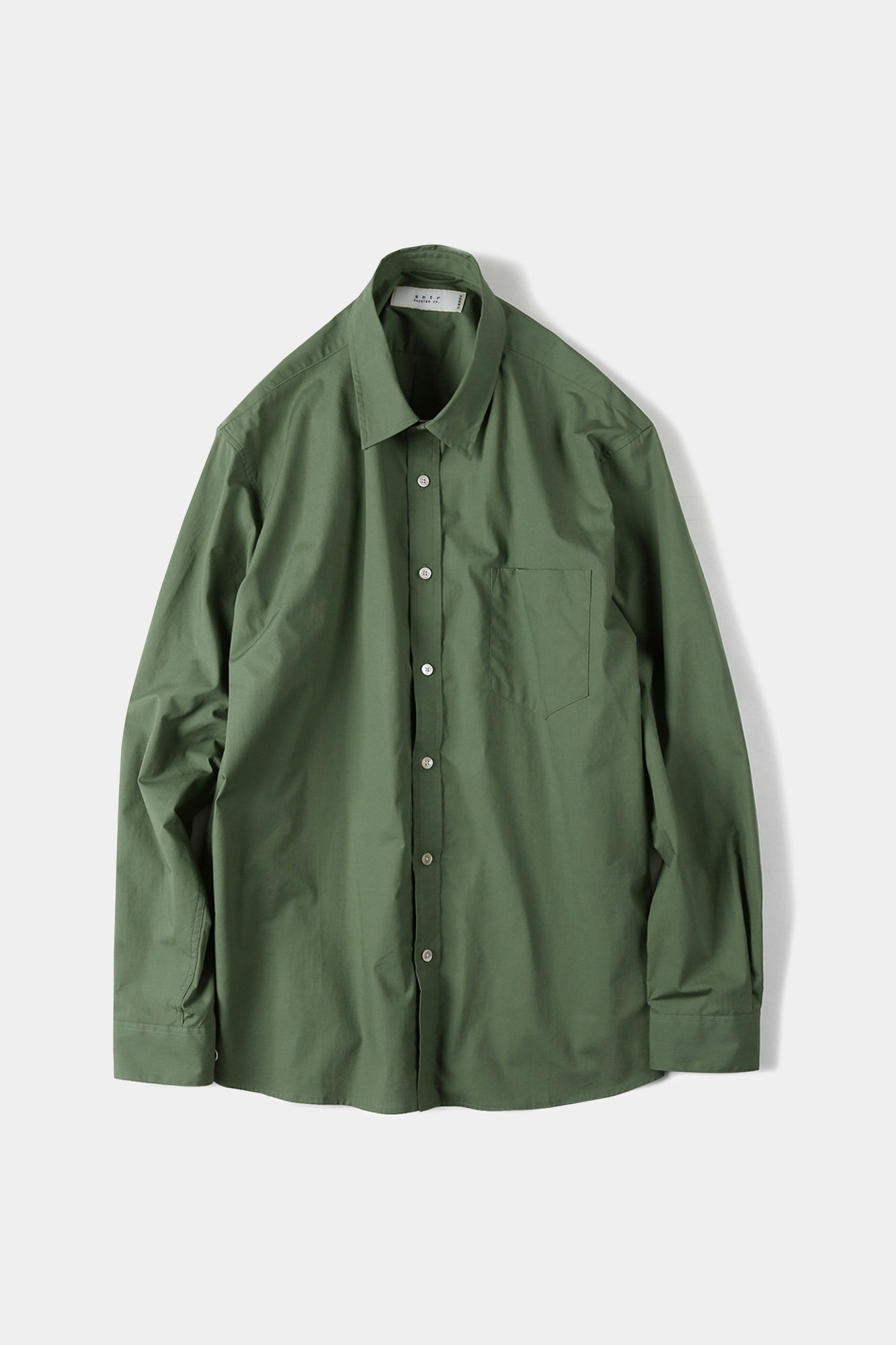 "SHIRTER High Density Blue Stripe Standard Shirt ""Green"""