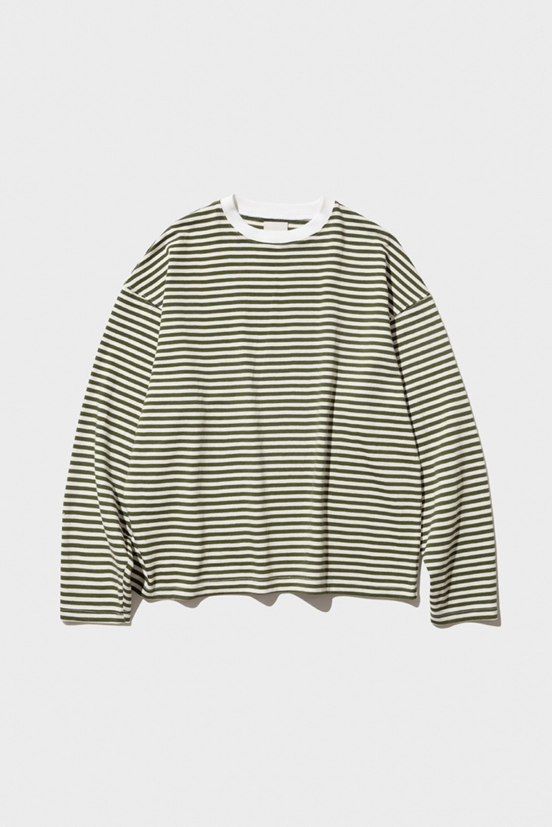 "Nocle Relax Stripe Tee ""Olive"""