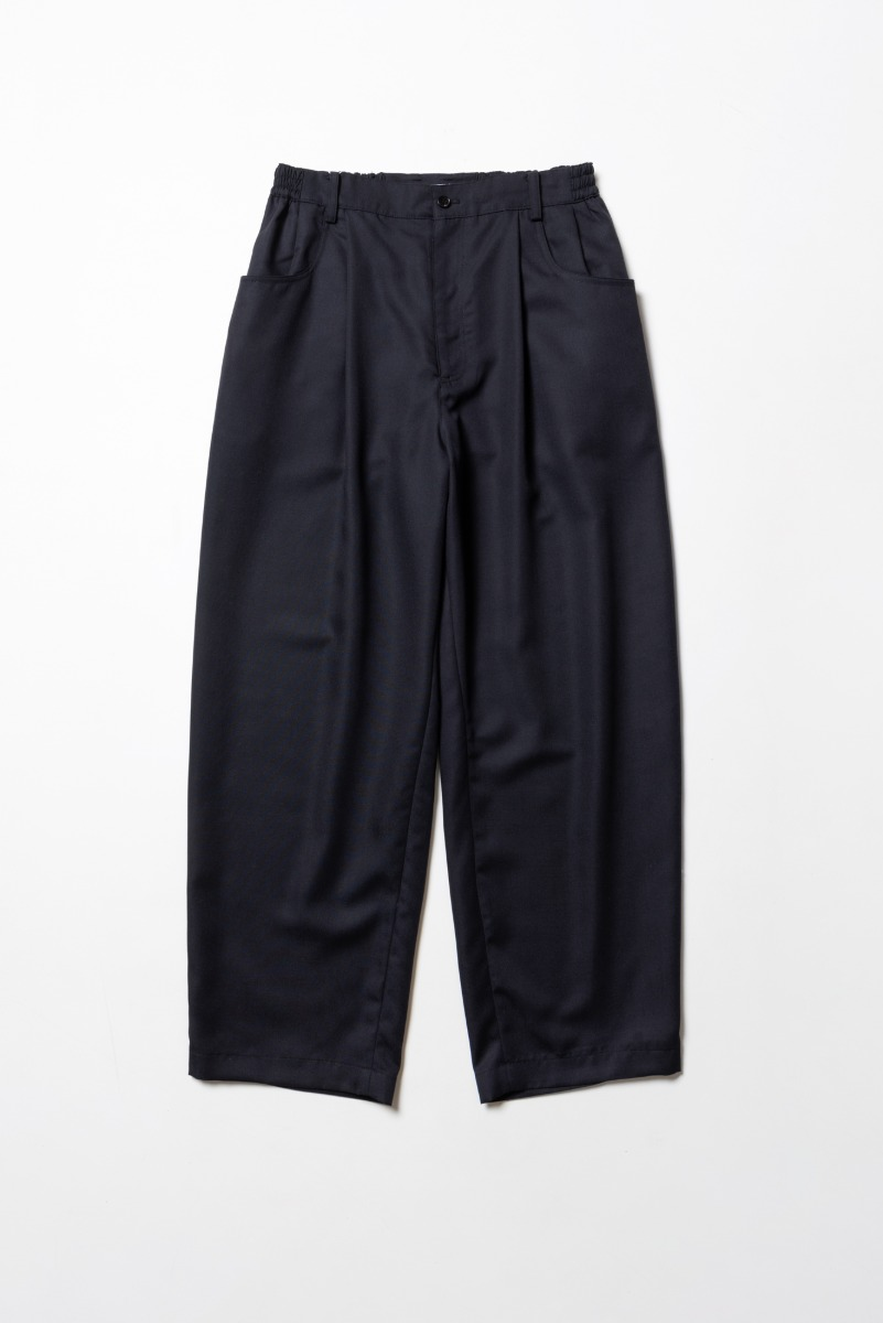 "ART IF ACTS Structured Wide Pants(Relaxed) ""Dark Navy"""
