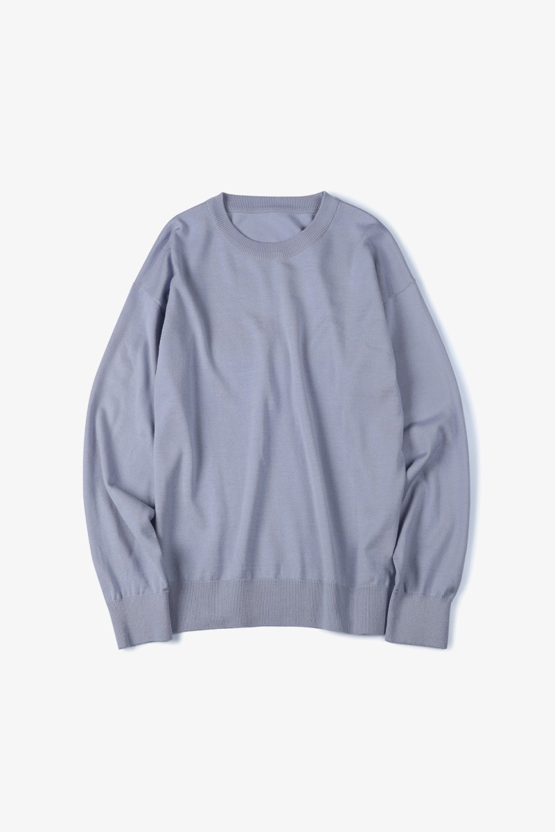 "SHIRTER Washable Pure Wool Crew Neck Knit ""Lavender"""