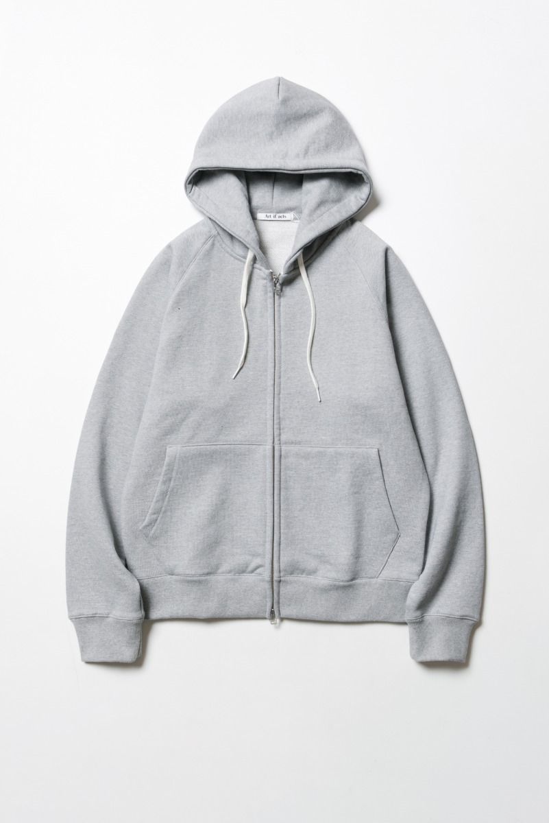 "ART IF ACTS Heavy Hooded Sweat Shirt(zipup) ""Melange Grey"""
