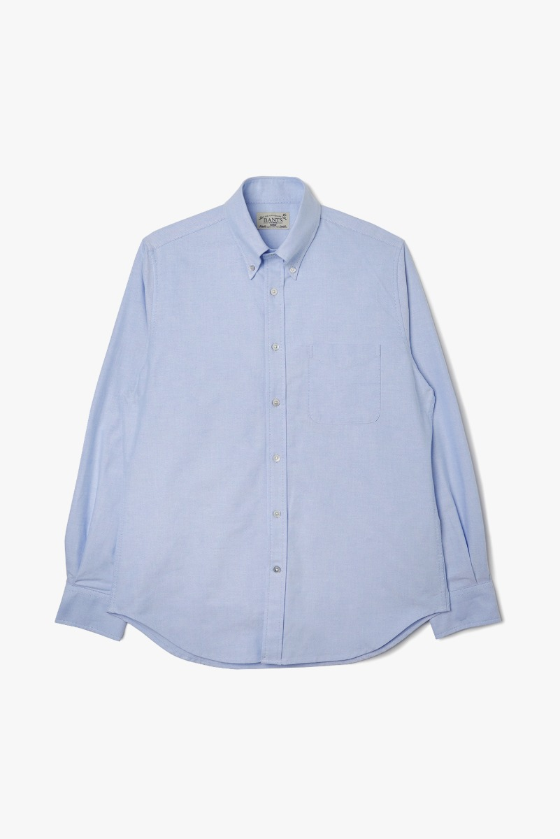 "BANTS VHS Solid Oxford B.D Shirt ""Skyblue"""
