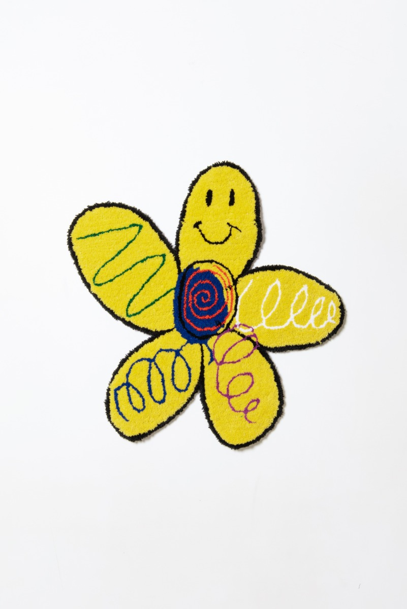 "THE MUSEUM VISITOR Flower Smile Door Mat ""Yellow"""