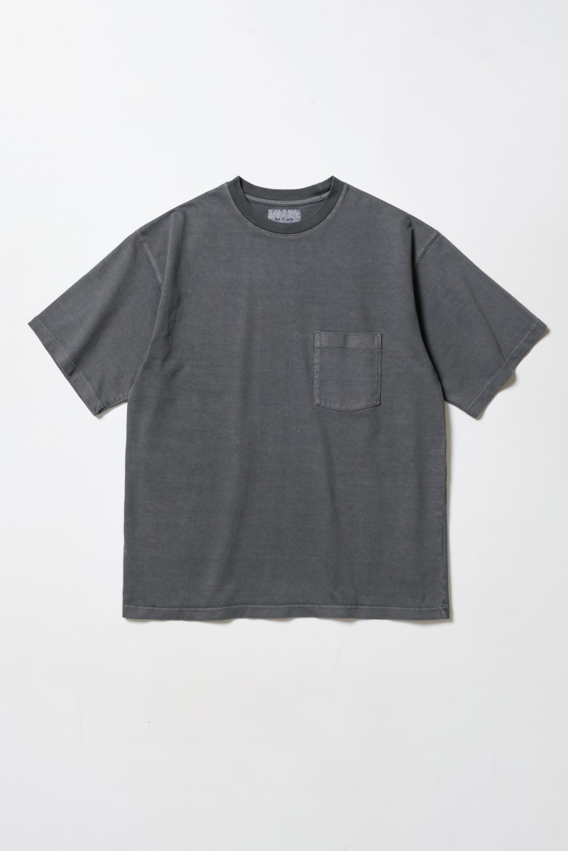 "ART IF ACTS One Pocket Garment Dyeing T-Shirts ""Charcoal"""
